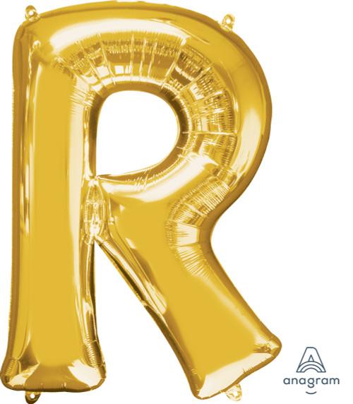 """34"""" Gold Letter """"R"""""""