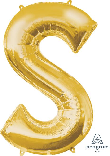 "34"" Gold Letter ""S"""
