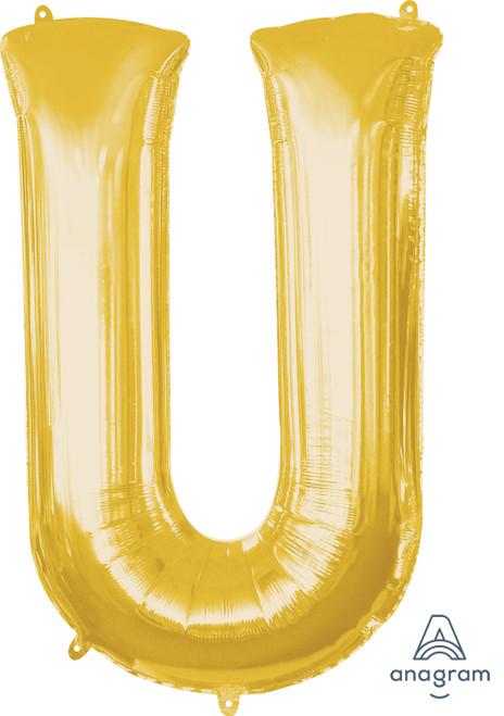 """34"""" Gold Letter """"U"""""""