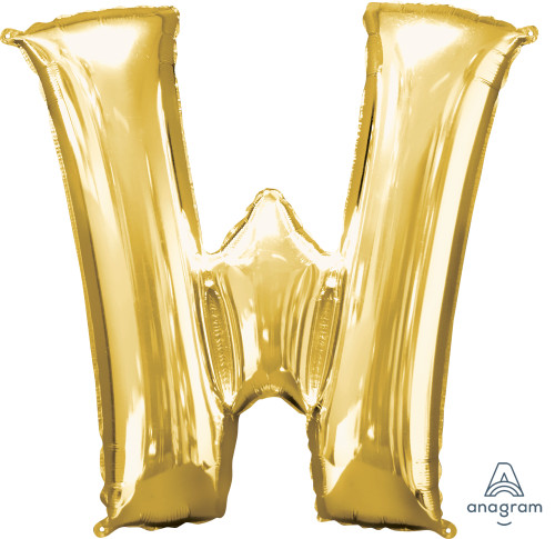 """34"""" Gold Letter """"W"""""""