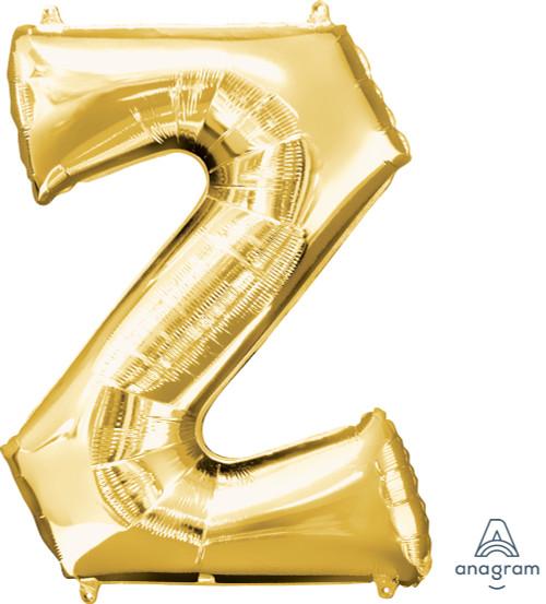 """34"""" Gold Letter """"Z"""""""