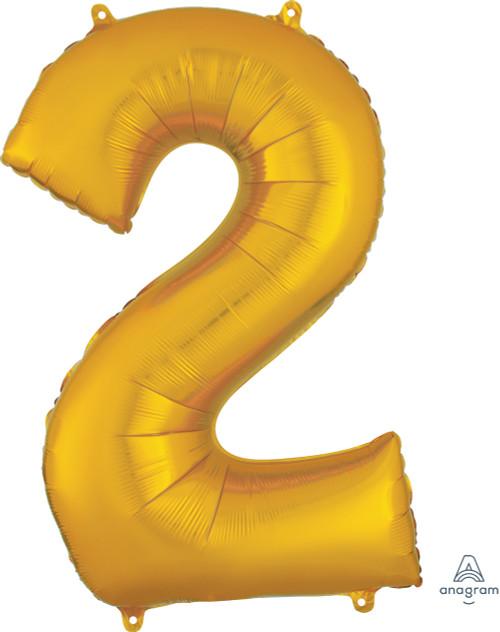 "34"" Gold Number ""2"""