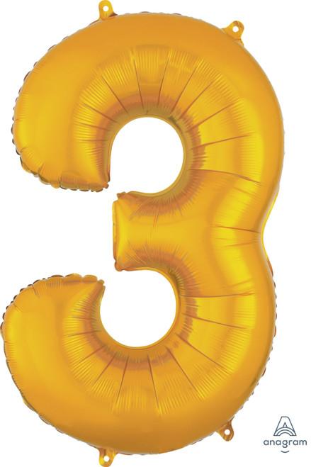 "34"" Gold Number ""3"""