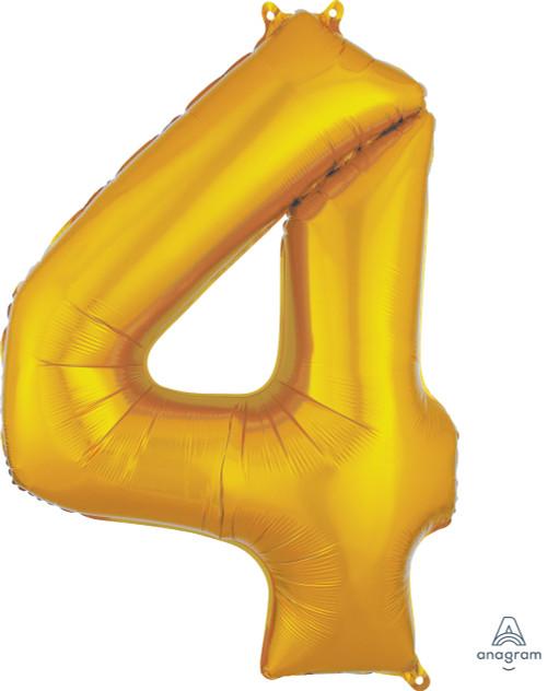 "34"" Gold Number ""4"""