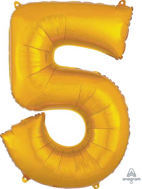 "34"" Gold Number ""5"""