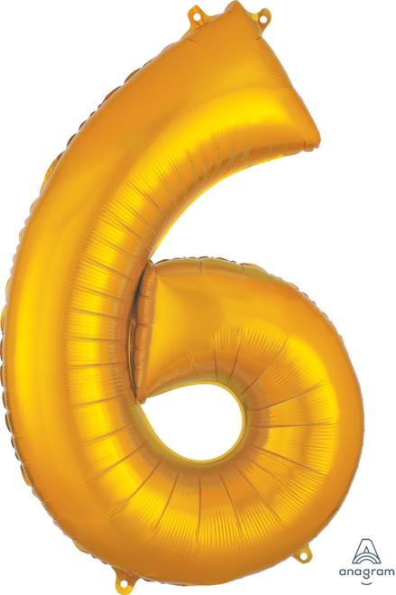 "34"" Gold Number ""6"""