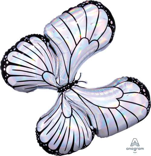 """30"""" Holographic Iridescent Butterfly"""