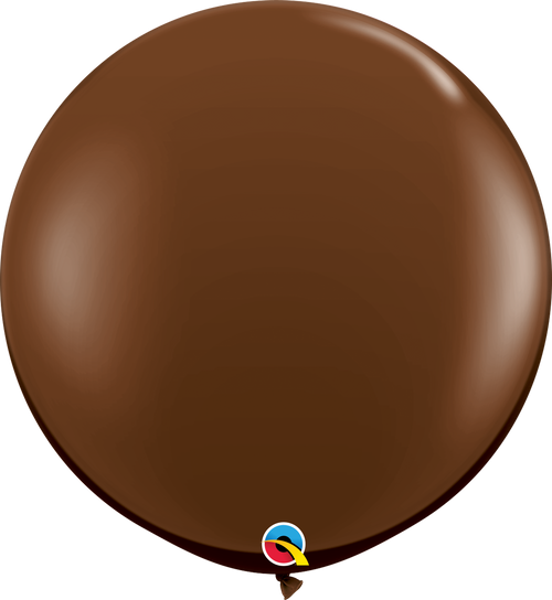 "36"" Qualatex Chocolate Brown Latex Balloons 2 ct"
