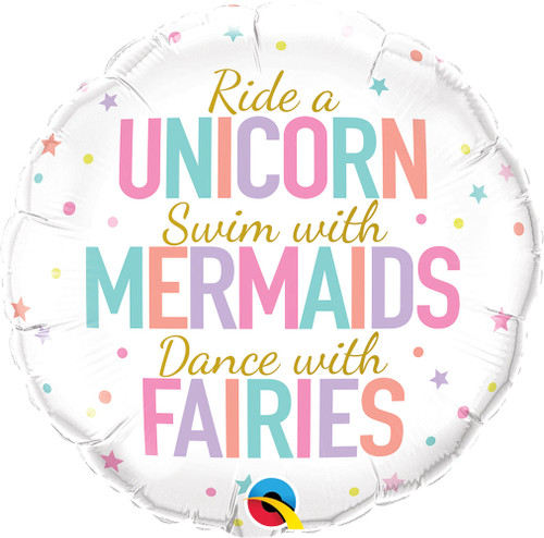"18"" Unicorn, Mermaids, Fairies"