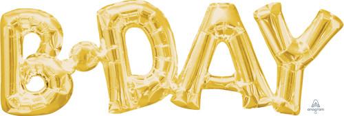 "30"" Phrase ""Bday"" Gold"