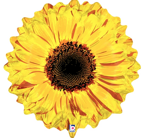 "24"" Yellow Flower Shape"