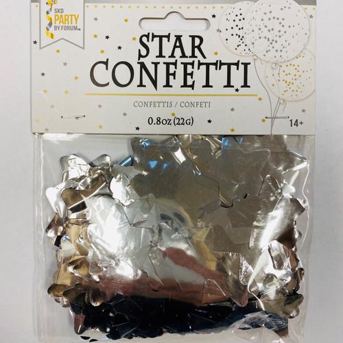 0.8 oz Silver Star Confetti