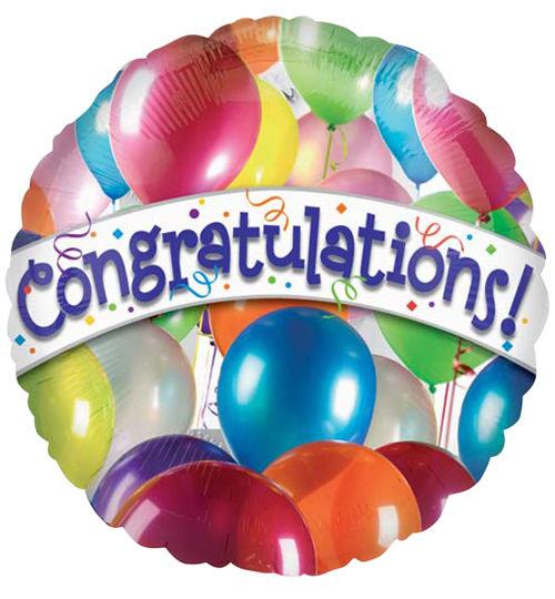 """18"""" Congrats Balloons"""