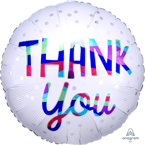 "17"" Thank You Silver Dots"