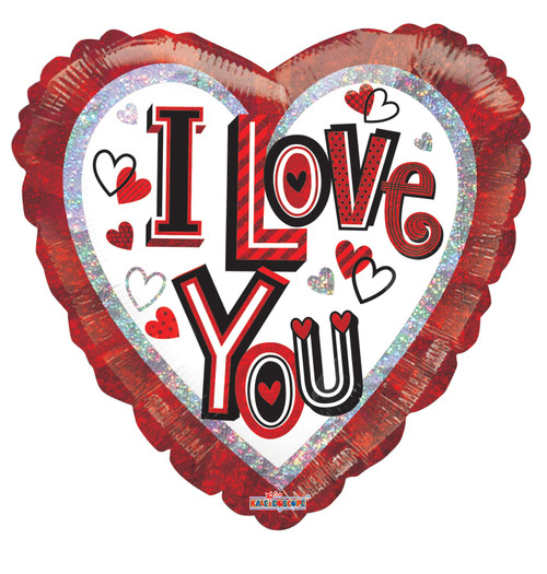 "18"" I Love You Contemporary Letters Holographic"