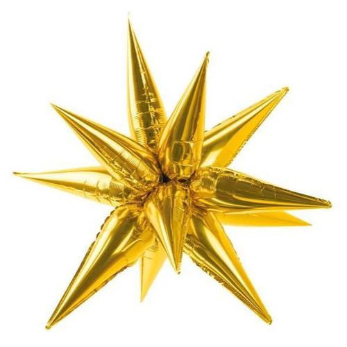 "40"" Jumbo Gold Starburst - AIR FILL"