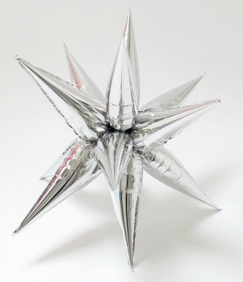 "40"" Jumbo Silver Starburst - AIR FILL"