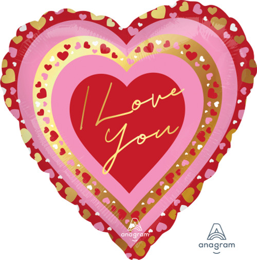 "NEW ARRIVAL! 28"" I Love You Pretty Hearts"