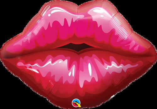 "30"" Big Red Kissey Lips Shape"