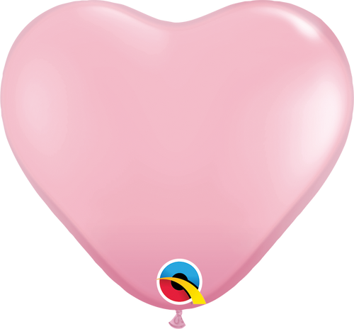 "11"" Qualatex Pink Heart Latex - 100 Ct."