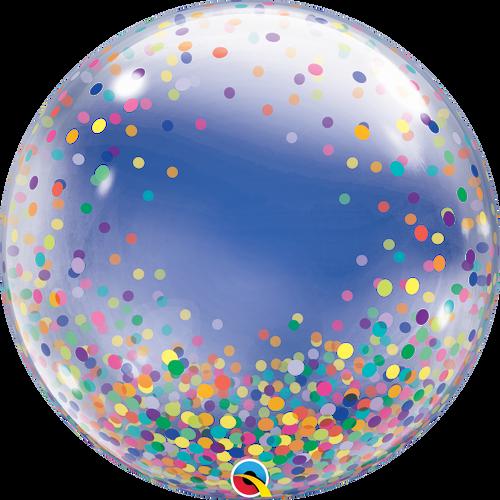 """24"""" Deco Bubble Balloon Colorful Confetti Dots"""