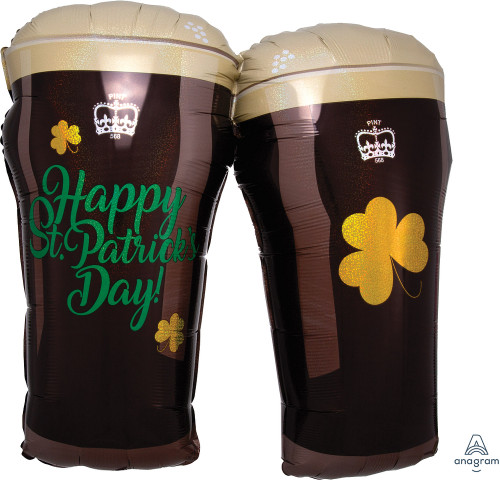 "28"" St. Patty's Beer Glasses"