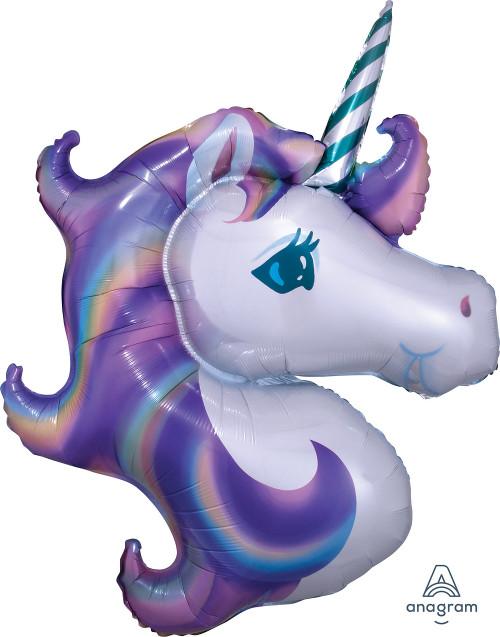 "33"" Unicorn Head Shape"