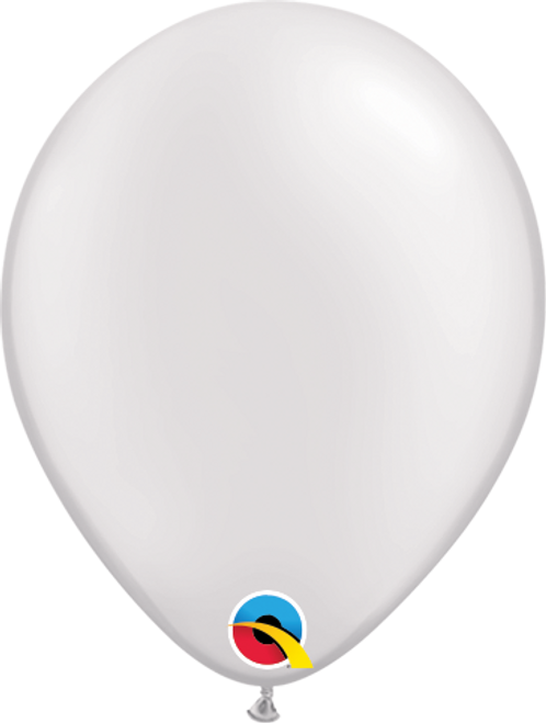 "5"" Qualatex Pearl White - 100 Ct."