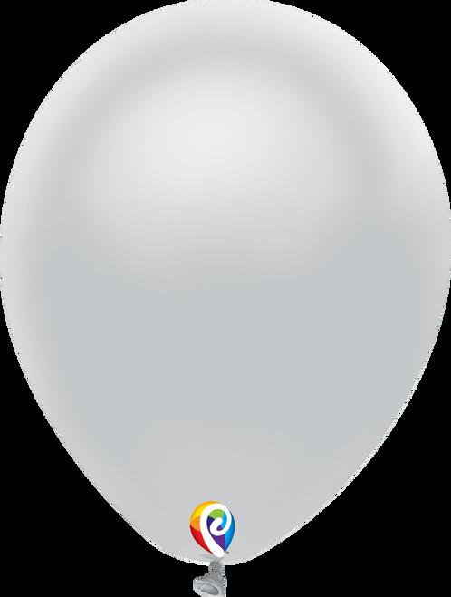 "12"" Funsational Metallic Silver - 50 Ct."