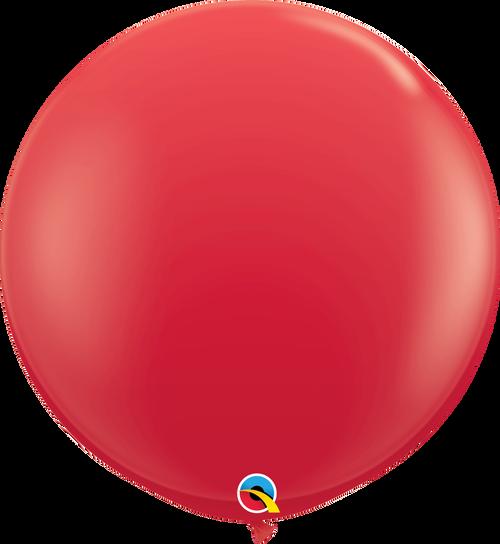 "36"" Qualatex Red Latex Balloons - 2 Ct."