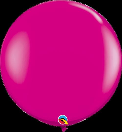 "36"" Qualatex Wild Berry Latex Balloons - 2 Ct."