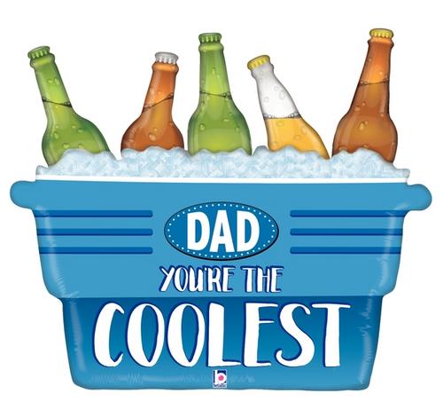 "33"" Coolest Dad Cooler Shape"