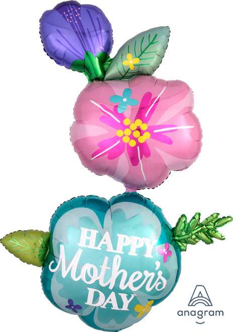 "56"" Happy Mother's Day Fancy Flower Shape"