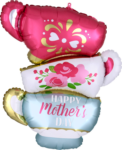 "30"" Happy Mother's Day Satin Teacups"