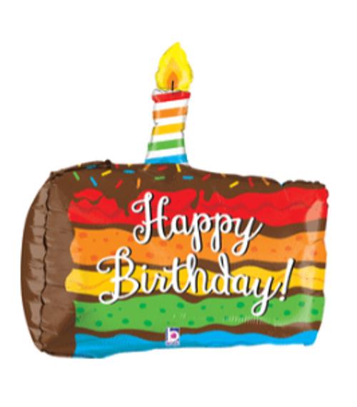 """28"""" Bday Cake Dimensional"""