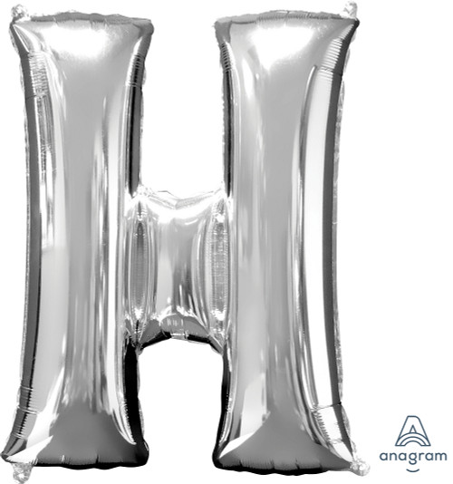 """34"""" Silver Letter """"H"""""""