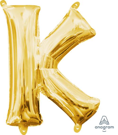 "16"" Letter ""K"" Gold - AIR FILL"