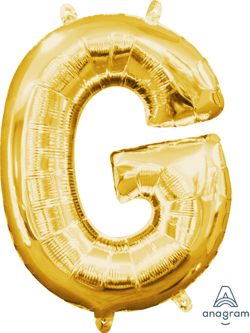 """16"""" Letter """"G"""" Gold - AIR FILL"""