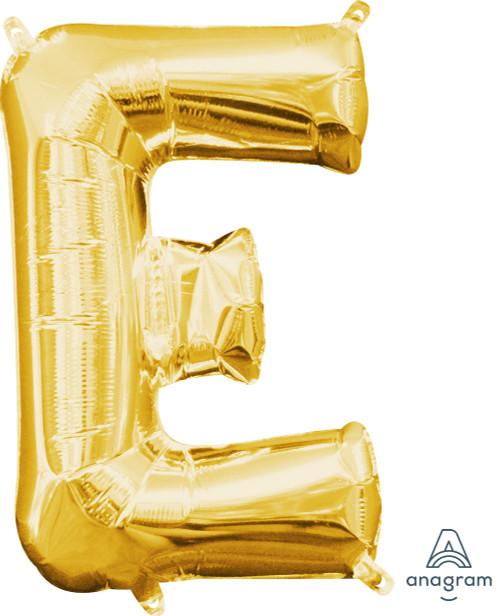 "16"" Letter ""E"" Gold - AIR FILL"