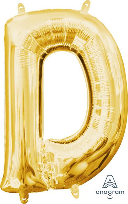 "16"" Letter ""D"" Gold - AIR FILL"