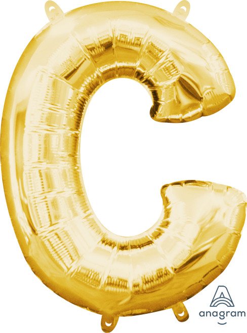 """16"""" Letter """"C"""" Gold - AIR FILL"""