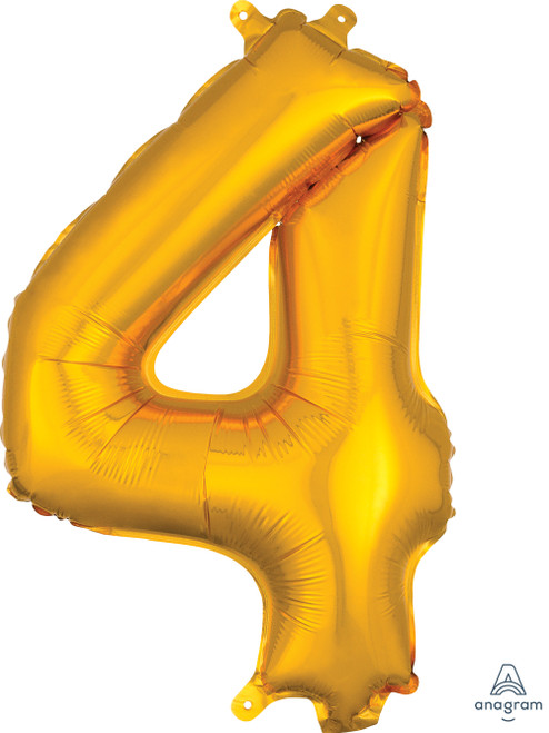"""16"""" Number """"4"""" Gold - AIR FILL"""