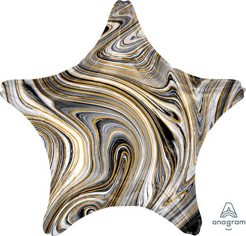 "17"" Black Star Marblez - 1 Ct."