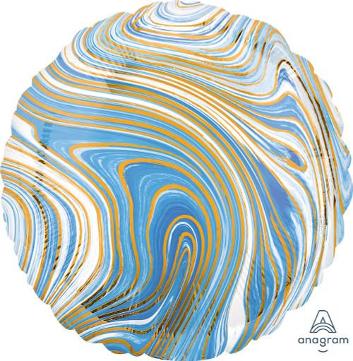 """17"""" Blue Round Marblez - 1 Ct."""