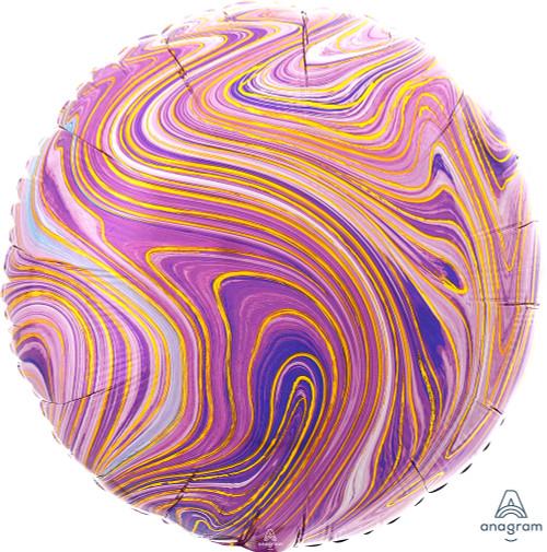 """17"""" Purple Round Marblez - 1 Ct."""