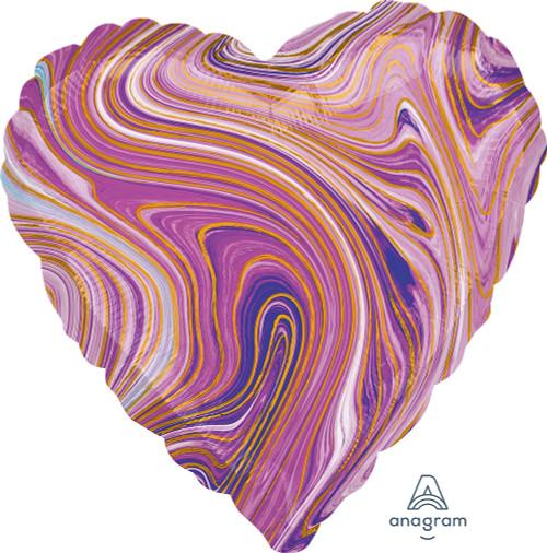 "17"" Purple Heart Marblez - 1 Ct."