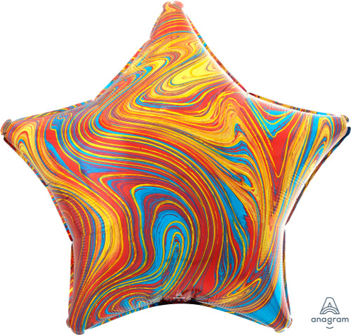 """17"""" Colorful Star Marblez - 1 Ct."""