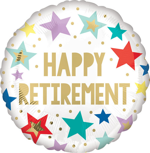 """18"""" Retirement White Stars"""
