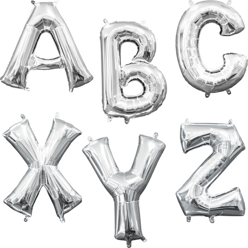 """34"""" Silver Letters"""