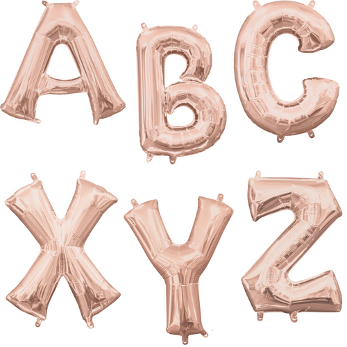 """34"""" Rose Gold Letters"""